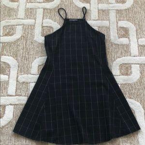 BRANDY MELVILLE BLACK PLAID MINI DRESS ONE SIZE